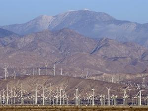 Wind Turbines Generating Electricity in Coachella Valley, California by Rich Reid