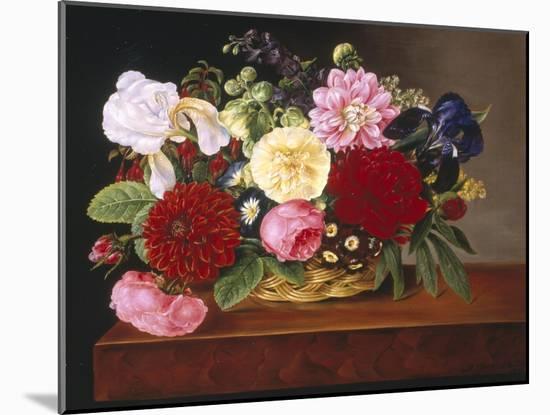 Rich Still Life of Flowers-Mathias Grove-Mounted Premium Giclee Print