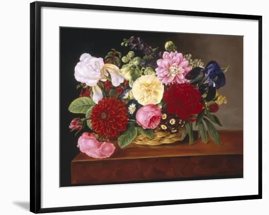 Rich Still Life of Flowers-Mathias Grove-Framed Giclee Print