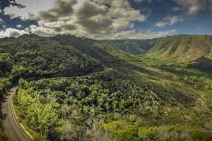Aerial of Halawa Valley, Molokai, Hawaii by Richard A Cooke III
