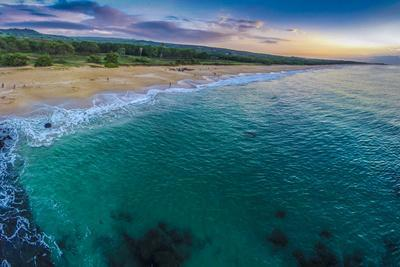 Aerial of Papohaku Beach, West Molokai, Hawaii