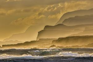 North Shore Cliffs at Sunrise, from Kaehu Point, Mo'Omomi Preserve, Nature Conservancy by Richard A Cooke III