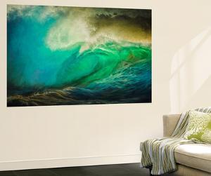 Painted Wave Photo at Papohaku Beach, West End, Molokai, Hawaii by Richard A Cooke III