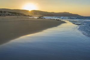 Sandy Shore at Mo'Omomi Beach, Sunset, Nature Conservancy, Molokai, Hawaii by Richard A Cooke III
