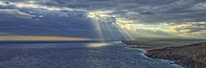 Sunrise from Ka'A in the Mokio Preserve of Molokai Land Trust, Looking Along North Shore Cliffs by Richard A Cooke III
