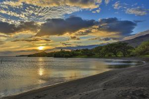 Sunset at Kamalo Wharf, Molokai, Hawaii by Richard A Cooke III