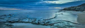 Tide Pools at Sunset, at Kawakiu Nui Beach, West End, Molokai, Hawaii by Richard A Cooke III