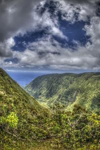 Waikolu Valley with Lifting Clouds, Molokai Forest Reserve, Molokai, Hawaii by Richard A Cooke III
