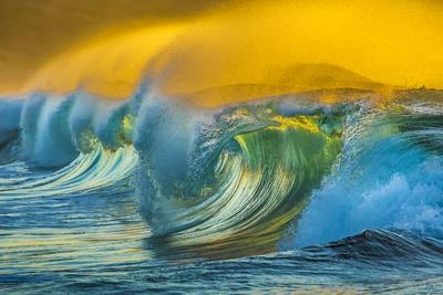 Wave Photo at Papohaku Beach, West End, Molokai, Hawaii