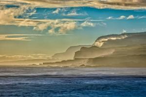 Molokai's North Shore Sea Cliffs at Sunrise by Richard A. Cooke