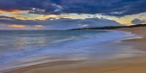 Panoramic of Sunrise Above Kawa'Aloa Bay on Molokai's North Shore by Richard A^ Cooke