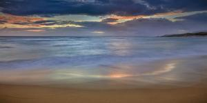 Panoramic of Sunrise Above Kawa'Aloa Bay on Molokai's North Shore by Richard A^ Cooke