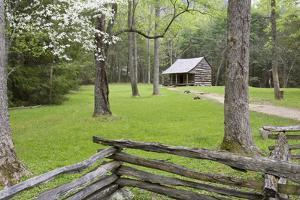 Carter Shields Cabin in Spring, Cades Cove Area, Great Smoky Mountains National Park, Tennessee by Richard and Susan Day