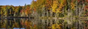 Fall Color at Small Lake or Pond Alger County in the Upper Peninsula, Michigan by Richard and Susan Day