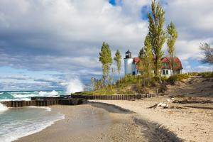 Point Betsie Lighthouse on Lake Michigan, Benzie County, Frankfort, Michigan by Richard and Susan Day