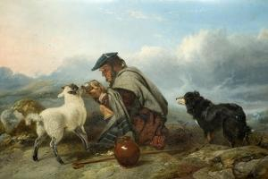 The Sick Lamb, 1853 by Richard Ansdell