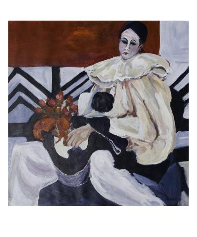 Richard As Clown-Linda Armstrong-Giclee Print