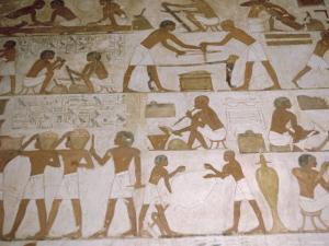 Depictions of Everday Life, Tomb of Renhuire, Thebes, Egypt by Richard Ashworth