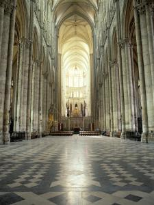 Interior of Amiens Cathedral, Amiens, Unesco World Heritage Site, Nord, France by Richard Ashworth