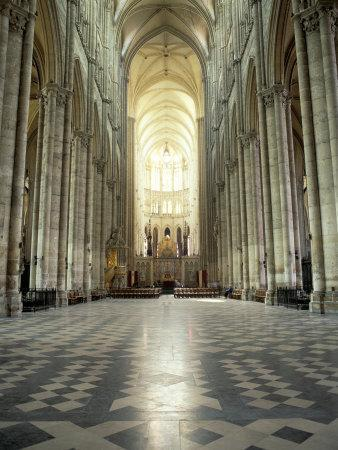 Interior of Amiens Cathedral, Amiens, Unesco World Heritage Site, Nord, France