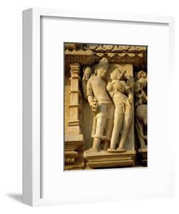 Vishnu and Lakshami, Sculptures on the Parshvinath Temple, Jain Group, Madhya Pradesh State, India by Richard Ashworth