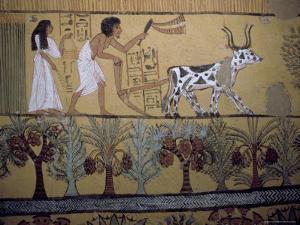Wall Paintings in the Tomb of Sennejem (Sinjin), Deir El Medina, Thebes, Egypt by Richard Ashworth