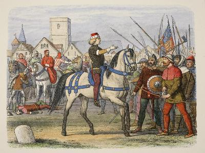 Richard Assumes the Command of the Rebels in the Peasants' Revolt-James William Edmund Doyle-Giclee Print