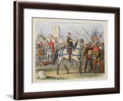 Richard Assumes the Command of the Rebels in the Peasants' Revolt-James William Edmund Doyle-Framed Giclee Print