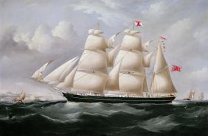 Clipper Barque 'Procymatia' Off Dover by Richard B. Spencer