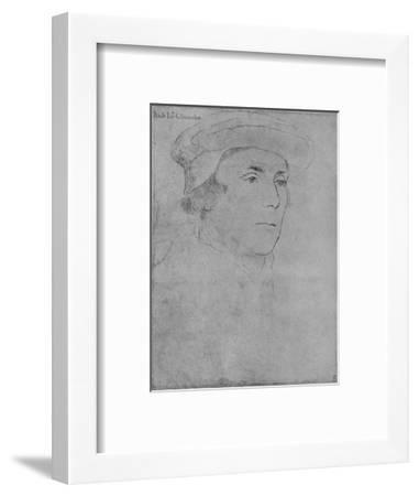 'Richard, Baron Rich', c1532-1543 (1945)-Hans Holbein the Younger-Framed Giclee Print