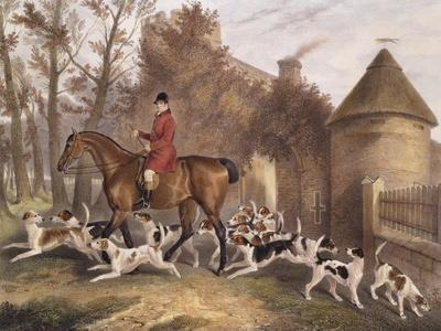 W. Sebright, Huntsman to the Milton Hounds, Engraved by J.W. Giles, 1839