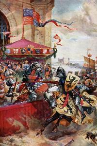 A Joust on London Bridge, 1390 by Richard Beavis
