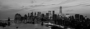 Lower Manhattan at dusk by Richard Berenholtz