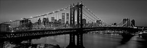 Manhattan Bridge and Skyline I by Richard Berenholtz