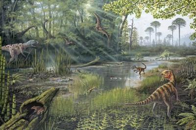Jurassic Life, Artwork by Richard Bizley