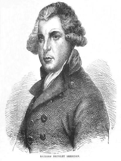 Richard Brinsley Sheridan, Irish dramatist, poet and politician, c1875 (1878)-Unknown-Giclee Print
