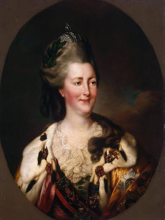 Portrait of Empress Catherine II, (1729-179), 1782