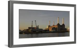 Battersea Power Station at Dawn, with Cranes and Buildings by Richard Bryant