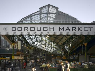 Borough Market, London. Entrance and Sign