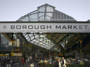 Borough Market, London. Entrance and Sign by Richard Bryant