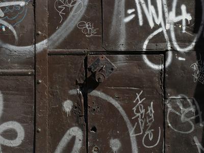 Graffiti on Gate, Spitalfields, London