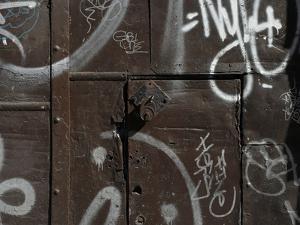 Graffiti on Gate, Spitalfields, London by Richard Bryant