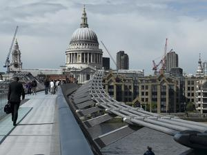 Millenium Bridge, Southbank, Southwark, and the Dome of St Pauls Cathedral by Richard Bryant