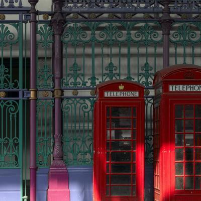 Red Telephone Boxes, Smithfield Market, Smithfield, London