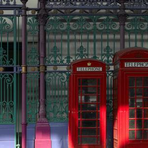 Red Telephone Boxes, Smithfield Market, Smithfield, London by Richard Bryant