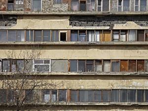 Window Detail of Narkomfin Building, Moscow by Richard Bryant