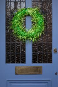 Wreath on Front Door of Edwardian House, London by Richard Bryant