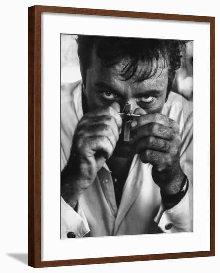 "Richard Burton in a Scene from Motion Picture ""The Night of the Iguana""-Gjon Mili-Framed Premium Photographic Print"