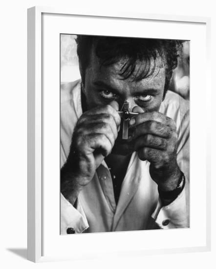"Richard Burton in a Scene from Motion Picture ""The Night of the Iguana""-Gjon Mili-Framed Premium Photographic Print"