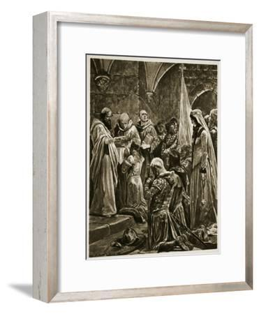 Anointing of Edward the Martyr at His Coronation by St. Dunstan at Kingston-On-Thames